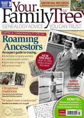 Front cover of Your Family Tree magazine